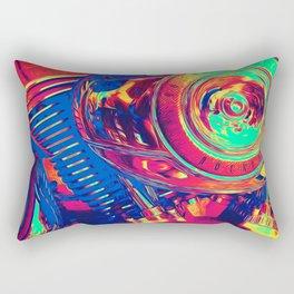Colorful Motorcycle Engine Rectangular Pillow