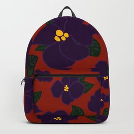 African Violets on red Backpack