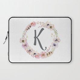 Floral Wreath - K Laptop Sleeve