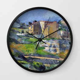 1883 - Paul Cezanne - Houses in Provence, The Riaux Valley near L'Estaque Wall Clock