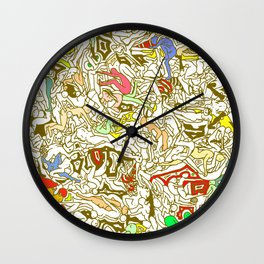 Kamasutra LOVE - Retro Yellow Wall Clock