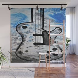 Guitar Art. Abstract Guitar. Rock and Roll. Gibson Guitar. Wall Mural