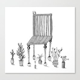 The Chair and the Plants Canvas Print