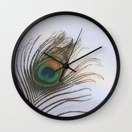 Feather. Wall Clock
