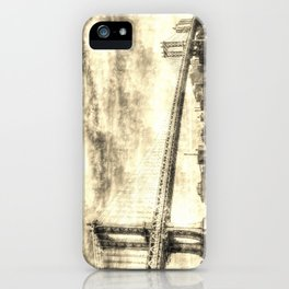 Manhattan Bridge New York Vintage iPhone Case
