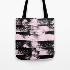 Pink Black Abstract texture  Tote Bag
