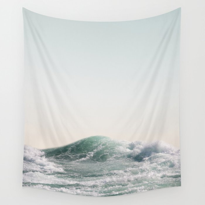 Waves and Sunrise Happy Summer Photography Ocean Beach Vibes Tropical Water Sea Wall Tapestry