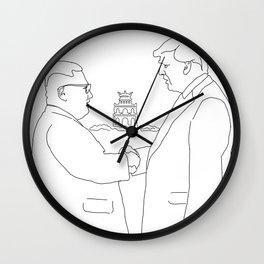 Trump and Kim Jong Un - Hanoi summit Wall Clock