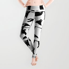 sloths pattern bw Leggings