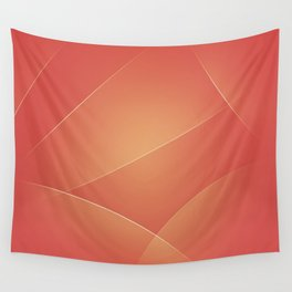 Red Damask, Valencia, Japonica & Di Serria Colors Wall Tapestry