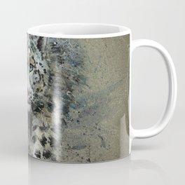Snow leopard background Coffee Mug