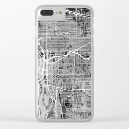 Portland Oregon City Map Clear iPhone Case