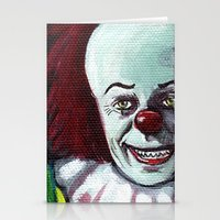 pennywise Stationery Cards featuring Pennywise the Clown by Minerva Torres-Guzman