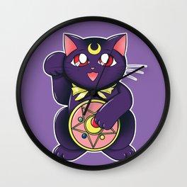 Lucky Lunar Cat Wall Clock