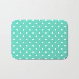 Tiffany Aqua Blue with White Polka Dots Bath Mat