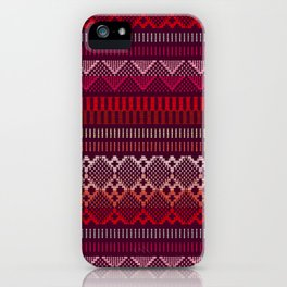 Weave (brown) iPhone Case