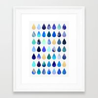 rain Framed Art Prints featuring Rain by Elisabeth Fredriksson