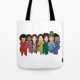 Scarf Rainbow Tote Bag