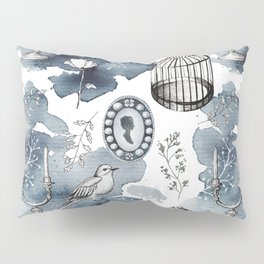 Cute watercolor fairy tales vintage hand drawn illustration pattern Pillow Sham