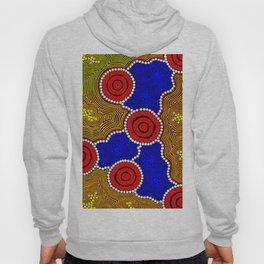 Authentic Aboriginal Art - Circles Hoody