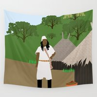 colombia Wall Tapestries featuring Indian tribe Kogi of Colombia  by Design4u Studio