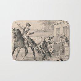 Vintage Minutemen of The Revolution Illustration (1876) Bath Mat