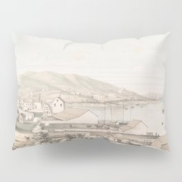 Vintage Pictorial Map of San Francisco CA (1849) Pillow Sham