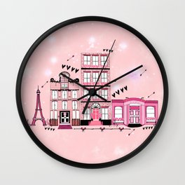 French Cafe Strip Wall Clock
