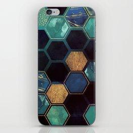 Blue & Gold iPhone Skin