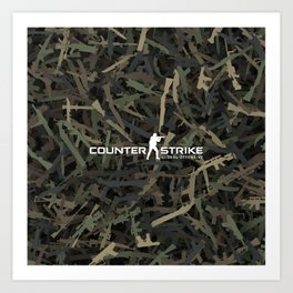 Counter strike weapon camouflage Art Print