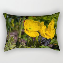 Honeysuckle Yellow Rectangular Pillow