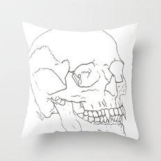 Vamp Skull Throw Pillow