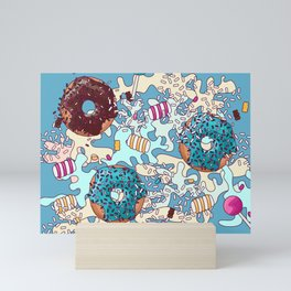 Sweet Blue Camo Mini Art Print