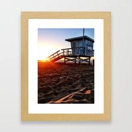 "Redondo Beach ""Life Guard Tower 3"" Framed Art Print"