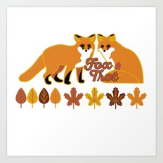 Fox Trot Art Print