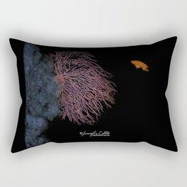Coral With An Orange Twist Rectangular Pillow