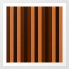 brown shades art home decorative Art Print