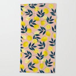 Lemony Goodness Beach Towel