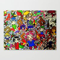 anime Canvas Prints featuring Anime by VZart