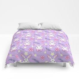 Sakura Bunny // Purple Comforters