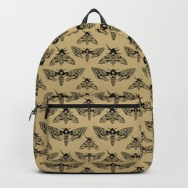 Antique Deaths Head Hawk Moth Pointillism Backpack