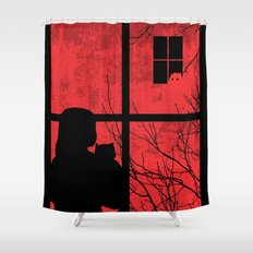 A Strange Encounter Shower Curtain