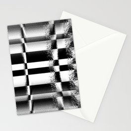 Black and White Abstract Structure Stationery Cards