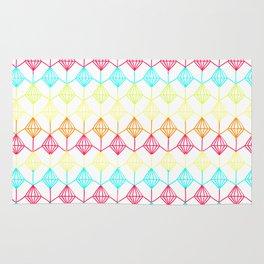 Neon diamonds pattern Rug
