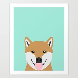 Cassidy - Shiba Inu gifts for dog lovers and cute Shiba Inu phone case for Shiba Inu owner gifts Art Print