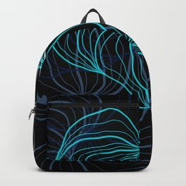 Gray, blue and white / digital drawing Backpack