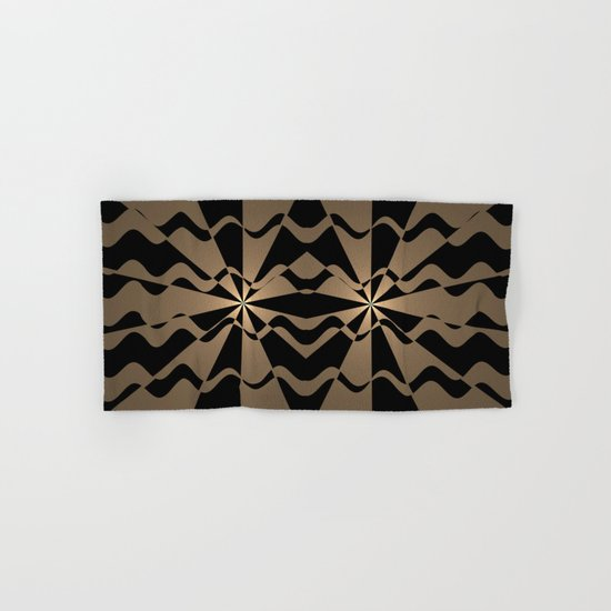 Trendy abstract in gold and black Hand & Bath Towel