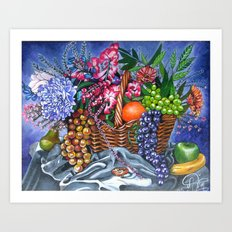 Plastic Fruits and Flowers Art Print