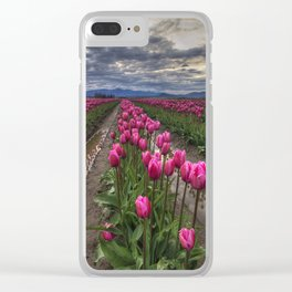Pink Impression Clear iPhone Case
