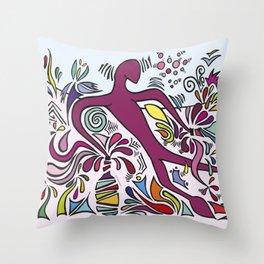 Bacchus' Creation Throw Pillow